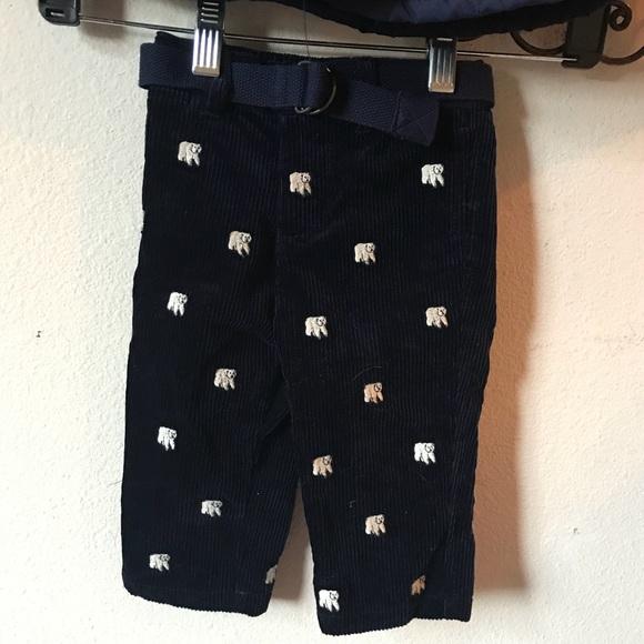 Ralph Lauren Other - Ralph Lauren Polar Bear Corduroy Pants Child's 9M